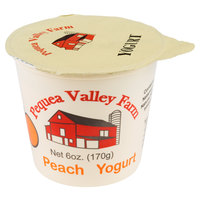 Pequea Valley Farm 6 oz. Peach Yogurt - 6/Case