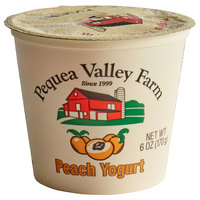 Pequea Valley Farm 6 oz. Amish-Made 100% Grass Fed Peach Yogurt - 6/Case