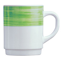 Arcoroc 54734 Opal Brush Green 8 oz. Stackable Mug by Arc Cardinal - 36/Case