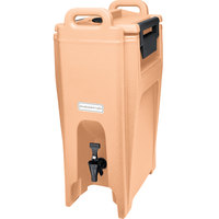 Cambro UC500157 Ultra Camtainer 5.25 Gallon Coffee Beige Insulated Beverage Dispenser