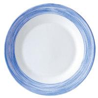 Arcoroc 54759 Opal Brush Blue 23 oz. Soup Plate by Arc Cardinal - 24/Case