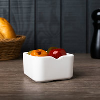 Arcoroc L9556 Mekkano 4.5 oz. White Porcelain Square Bowl by Arc Cardinal - 24/Case