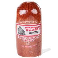 Weaver's 5 lb. Lebanon Bologna Halve - 4/Case