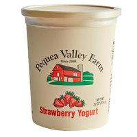 Pequea Valley Farm 32 oz. Amish-Made 100% Grass Fed Strawberry Yogurt - 6/Case