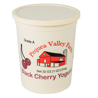 Pequea Valley Farm 32 oz. Black Cherry Yogurt - 6/Case