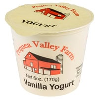 Pequea Valley Farm 6 oz. Vanilla Yogurt - 6/Case
