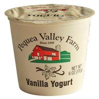 Pequea Valley Farm 6 oz. Vanilla Yogurt - 6/Case