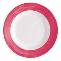 Arcoroc H2686 Opal Brush Cherry 6 inch Dessert Plate by Arc Cardinal - 24/Case