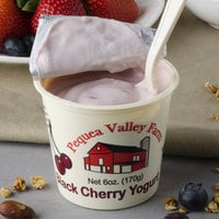 Pequea Valley Farm 6 oz. Black Cherry Yogurt - 6/Case