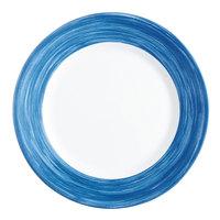 Arcoroc P3946 Opal Brush Blue Jean 10 inch Dinner Plate by Arc Cardinal - 12/Case