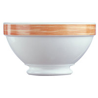 Arcoroc 54557 Opal Brush Orange 17.25 oz. Stackable Footed Bowl by Arc Cardinal - 36/Case