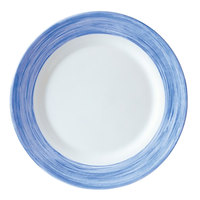 Arcoroc H3609 Opal Brush Blue Jean 6 inch Dessert Plate by Arc Cardinal - 24/Case