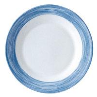 Arcoroc H3610 Opal Brush Blue Jean 23 oz. Soup Plate by Arc Cardinal - 24/Case