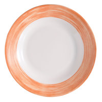 Arcoroc 54753 Opal Brush Orange 23 oz. Soup Plate by Arc Cardinal - 24/Case