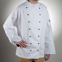 Chef Revival J013-3X Chef-Tex Size 56 (3X) Customizable Poly-Cotton Executive Chef Jacket