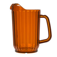 Choice 32 oz. Amber SAN Plastic Beverage Pitcher
