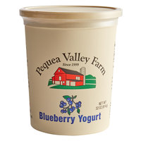 Pequea Valley Farm 32 oz. Amish-Made 100% Grass Fed Blueberry Yogurt - 6/Case