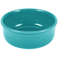 Homer Laughlin 576107 Fiesta Turquoise 22 oz. China Chowder Bowl - 6/Case