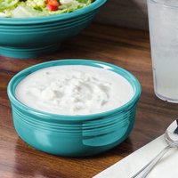 Homer Laughlin 576107 Fiesta Turquoise 22 oz. Chowder Bowl - 6/Case
