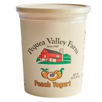 Pequea Valley Farm 32 oz. Amish-Made 100% Grass Fed Peach Yogurt - 6/Case