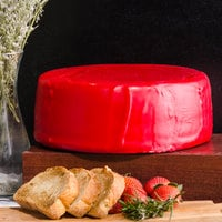 York Valley Cheese Company Druck's 12 lb. Mini Wheel of Yellow Extra Sharp Cheddar Cheese in Red Wax