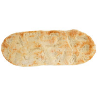 Fontanini 4 1/2 inch x 12 inch Oval Par-Baked Flatbread Pizza Crust   - 60/Case
