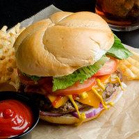Devault Foods 4 oz. Homestyle 80/20 Seasoned Beef Burger - 40/Case