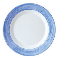 Arcoroc H3608 Opal Brush Blue Jean 7 1/2 inch Side Plate by Arc Cardinal - 24/Case