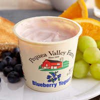 Pequea Valley Farm 6 oz. Blueberry Yogurt - 6/Case