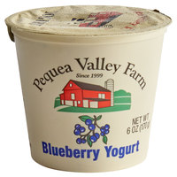 Pequea Valley Farm 6 oz. Amish-Made 100% Grass Fed Blueberry Yogurt - 6/Case