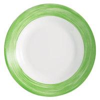 Arcoroc 54754 Opal Brush Green 23 oz. Soup Plate by Arc Cardinal - 24/Case