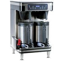 Bunn 51200.0104 ICB Infusion Series WiFi Capable Black and Stainless Steel Twin Coffee Brewer - 120/240V