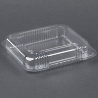 Dart Solo C51UTS StayLock 8 1/4 inch x 7 3/4 inch x 2 inch Clear Hinged Plastic Medium Shallow Container - 250/Case