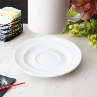 Arcoroc FJ833 Capitale 6 1/8 inch White Porcelain Saucer by Arc Cardinal - 24/Case