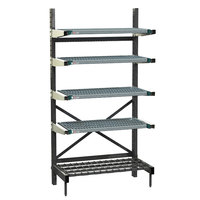 Metro SM761830-PRO-4 SmartLever Base Unit with 4 Super Erecta Pro Shelves and Dunnage Base - 22 inch x 34 inch x 76 inch