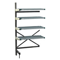 Metro SM761836-ADD-PRO-4 SmartLever Add On Unit with 4 Super Erecta Pro Shelves and Dunnage Base - 22 inch x 39 inch x 76 inch