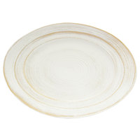 Elite Global Solutions M1521OVST-OWD Della Terra Melamine Stoneware 21 inch x 15 inch Off White Irregular Oval Serving Dish