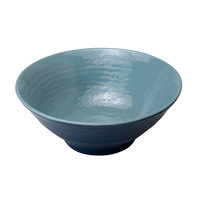 Elite Global Solutions D1006RR-ABY/LAP Durango 20 oz. Abyss and Lapis Round Two-Tone Melamine Bowl - 6/Case