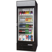Beverage-Air LV23HC-1-B-18 LumaVue 27 inch Black Refrigerated Left Hinged Glass Door Merchandiser with LED Lighting