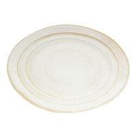 Elite Global Solutions M1318OVST-OWD Della Terra Melamine Stoneware 18 inch x 13 inch Off White Irregular Oval Serving Dish