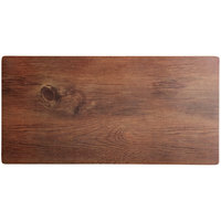 Elite Global Solutions M1020-HW Fo Bwa 20 inch x 10 inch Faux Hickory Wood Melamine Serving Board