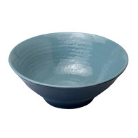 Elite Global Solutions D1008RR-ABY/LAP Durango 40 oz. Abyss and Lapis Round Two-Tone Melamine Bowl - 6/Case