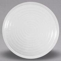 Elite Global Solutions M17RG-W Galaxy 17 inch White Swirl Round Melamine Plate - 6/Case
