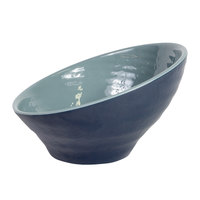 Elite Global Solutions D95RR-ABY/LAP Durango 1.16 Qt. Abyss and Lapis Angled Two-Toned Melamine Bowl - 6/Case