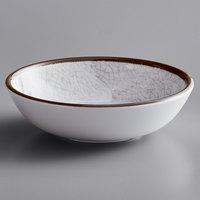 Elite Global Solutions DB51M-W Mojave Vintage California 10 oz. White Crackle Small Round Melamine Bowl - 6/Case