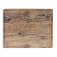 Elite Global Solutions M1215RCFP-DW Fo Bwa 15 inch x 12 inch x 1/2 inch Faux Driftwood Melamine Serving Board