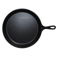 Elite Global Solutions MFP1075-B Illogical 10 3/4 inch Black Faux Cast Iron Fry Pan