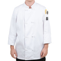 Chef Revival Bronze J050-4X Size 60 (4X) Customizable Double Breasted Chef Coat with Knot Cloth Buttons - Poly-Cotton Blend