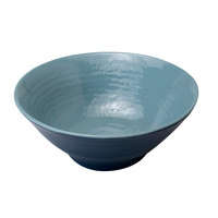 Elite Global Solutions D1010RR-ABY/LAP Durango 1.72 Qt. Abyss and Lapis Round Two-Tone Melamine Bowl - 6/Case