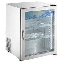 Avantco CRM-5-HC Stainless Steel Countertop Display Refrigerator with Swing Door - 3.9 Cu. Ft.